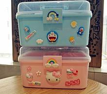 可爱家ge用(小)药箱家lu塑料药品收纳箱宝宝(小)药箱收纳盒