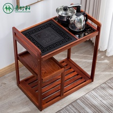 中式移ge茶车简约泡mo用茶水架乌金石实木茶几泡功夫茶(小)茶台