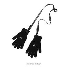 机能风ge士手套潮牌bo性触屏跑步手套男生冬天学生加绒带绳