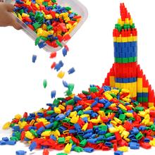 火箭子ge头桌面积木fa智宝宝拼插塑料幼儿园3-6-7-8周岁男孩