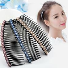 韩国发ge插梳刘海梳ku水钻发箍卡子夹子头饰品发夹发饰