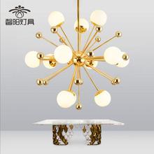 后现代创意魔豆玻璃球吊灯