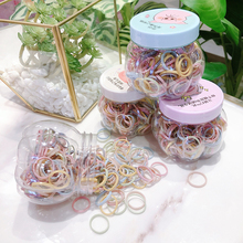 新式发ge盒装(小)皮筋ku套彩色发圈简单细圈刘海发饰宝宝头绳