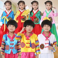 宝宝韩ge六一宝宝男ku族演出服大长今舞蹈服韩国民族传统服饰
