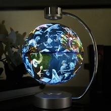 黑科技ge悬浮 8英rg夜灯 创意礼品 月球灯 旋转夜光灯