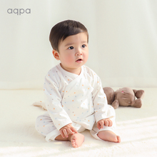 aqpge 新式婴儿rg薄蝴蝶哈衣0-6月新生儿宝宝绑带连体衣和尚服