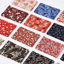 日本和风布料烫金棉布居ge8布艺日式ma服装面料布料清仓处理