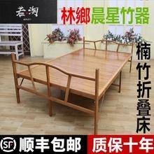 单的双ge折叠床家用ma板式床午睡休闲经济便携租房硬板床