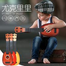 宝宝尤ge里里女初学ma(小)吉他玩具可弹奏3岁1(小)孩学生乐器男孩