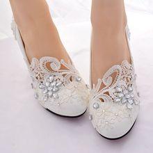 新品大码女鞋新娘结婚鞋白色高跟蕾ge13水钻绣mp鞋宴会礼服