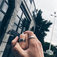 日韩潮ge高桥民族风vo嵌金珠太阳图腾戒指情侣男女尾环不褪色