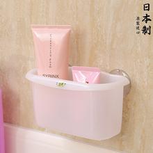 日本进gg浴室牙刷牙wj架沥水吸盘吸壁式化妆品洗漱用品收纳盒