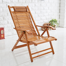 竹躺椅gh叠午休午睡ne闲竹子靠背懒的老式凉椅家用老的靠椅子