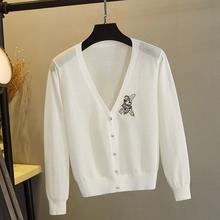 冰丝针gh外搭开衫女hw披肩夏季薄式短式(小)外套亚麻防晒配裙子