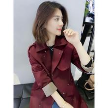 欧洲站gi冬装女20le式欧货潮时尚红色宽松休闲中长式风衣外套韩