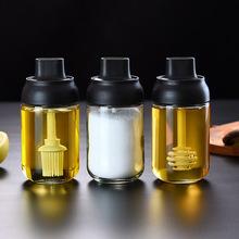日式调gi罐玻璃厨房le罐子盐味精组合装油壶调料瓶套装