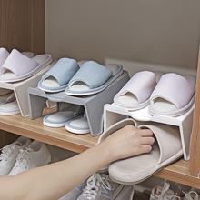 双层鞋gi一体式鞋盒le舍神器省空间鞋柜置物架鞋子收纳架