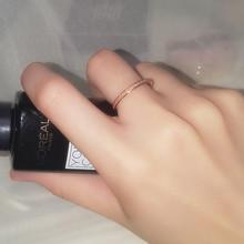 女时尚gi性ins潮de彩金钛钢不褪色抖音网红简约学生食指