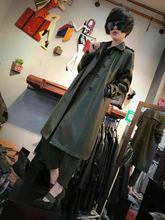 欧洲站gi020冬季da尚简约长式风衣修身显瘦pu皮女士上衣外套潮