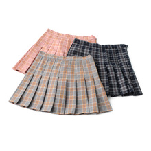 202gi春夏学院风lg腰修身半身裙 百褶裙 裤裙 裙子短裙女