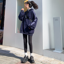 文文婷gjOWENTdg裤女外穿春秋式黑色弹力显瘦运动打底
