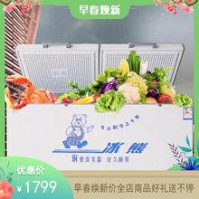 冰熊新gjBC/BDdg8铜管商用大容量冷冻冷藏转换单温冷柜超低温柜