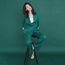 西装套gj0女202xp款职业时尚休闲显瘦洋气质(小)西装长裤两件套