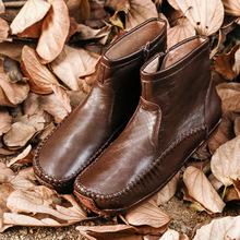 原创手gk文艺复古短dq 真皮大底 百搭舒适短靴