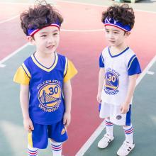 [gkwq]儿童篮球服套装男童夏中小