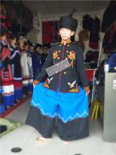 凉山彝gl男装刺绣花de山装上衣民族特色风格服饰服装秋装包邮