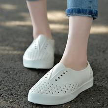 胡歌同式软底洞gl4鞋男女沙ks色情侣果冻花园鞋套脚(小)白鞋女