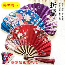 龙刀扇女式折扇日本和风绢