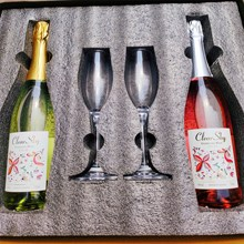 桃红白gl泡起泡酒原po红酒半甜型女士果酒葡萄礼盒装顺丰包邮