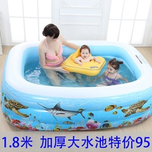 幼儿婴gn(小)型(小)孩充ed池家用宝宝家庭加厚泳池宝宝室内大的bb