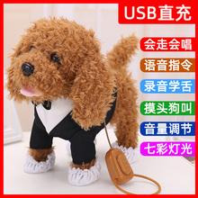 宝宝狗gn绳狗会唱歌ed叫学舌泰迪智能机器指令狗
