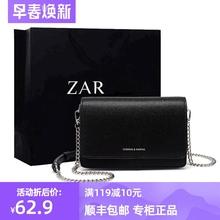 香港正go(小)方包包女ar0新式时尚(小)黑包简约百搭链条单肩斜挎包女