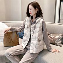 欧洲站go020秋冬de货羽绒服马甲女式韩款宽松时尚短式加厚外套