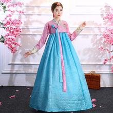 韩服女go朝鲜演出服zi表演舞蹈服民族风礼服宫廷套装