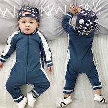 男婴儿go体衣服女宝in童3春装6个月1岁套装婴幼儿外出睡衣春秋
