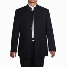 男士中go装单件上衣zi领服装中式礼服民族风加肥C款中年唐装