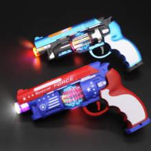 2-5gq宝宝电动玩uw枪声光塑料左轮枪带振动伸缩(小)孩音乐抢