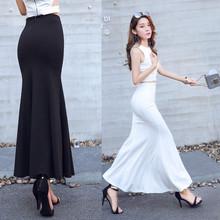 半身长gq2020秋uw高腰半身包臀裙女鱼尾裙OL优雅一步包臀裙女
