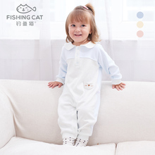 婴儿连gq衣春秋外出lx宝宝两用档棉哈衣6个月12个月婴儿衣服