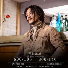 SOAgrIN原创设du风亚麻料衬衫男 vintage复古休闲衬衣外套寸衫