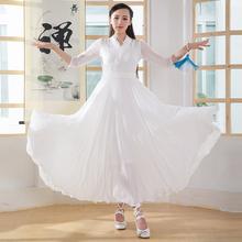 禅舞服gr女套装仙女nd服禅修服禅意复古文艺雪纺套装连衣裙