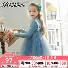 女童爱莎公主裙秋冬2020新式gr12童装洋at连衣裙蓬蓬纱裙子