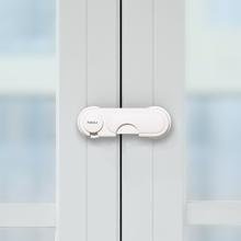 宝宝防gr宝夹手抽屉en防护衣柜门锁扣防(小)孩开冰箱神器