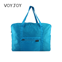 VOYgrOY可折叠en李袋手提大容量旅行包尼龙可套拉杆箱登机通用