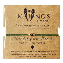 VIKgrKO【健康en(小)众设计女生细珠串手链绳绿色友谊闺蜜好礼物