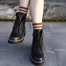 Artgru阿木加绒en女英伦风短靴网红子新式机车靴骑士靴